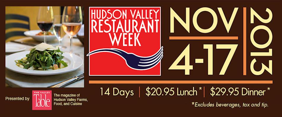 Hudson Valley Restaurant Week Back Next Month